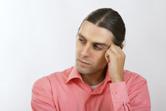 A Portrait of Serious thoughtful Young Man Stock Image