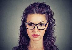 Portrait of a serious woman royalty free stock photo