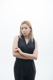 Portrait of serious young business woman Stock Image