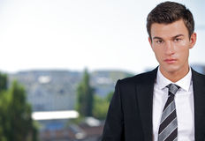 Portrait of serious young businessman Stock Image