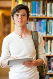 Portrait of a serious young student Stock Image