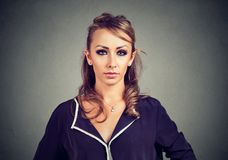 Portrait of a serious woman royalty free stock photography