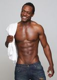 Sexy African American Man Smiling Stock Photo