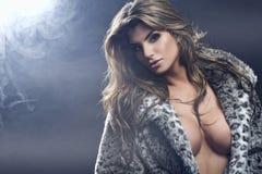 Portrait of sexy beautiful brunette woman Stock Photography