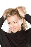 Portrait of sexy blond woman Stock Photos
