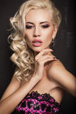 Portrait of sexy blond woman Stock Photo
