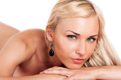 Portrait of sexy blond woman Stock Photo