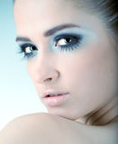 Portrait of sexy caucasian young woman Stock Images