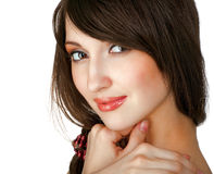 Portrait of caucasian young woman Royalty Free Stock Photos
