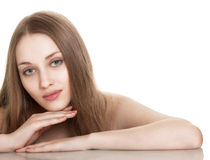 Portrait of sexy caucasian young woman Royalty Free Stock Photography