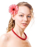 Portrait of caucasian young woman Royalty Free Stock Photo