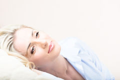 Portrait of sexy hot smiling blond Stock Photos