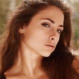 Portrait sexy lumineux de maquillage image libre de droits
