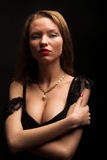 Portrait of sexy mysterious woman Royalty Free Stock Photo