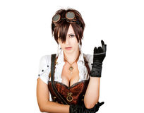 Portrait of a sexy steampunk woman Stock Photo