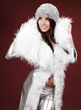 Portrait of sexy winter woman Stock Photo