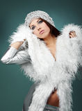 Portrait of sexy winter woman Royalty Free Stock Photos