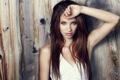 Portrait of woman stock image