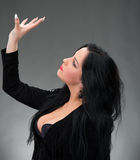 Portrait of sexy woman in black dress Royalty Free Stock Images