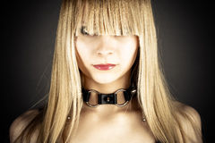 Sexy woman. Portrait of sexy woman with neck collar Stock Photo