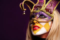 Portrait of sexy woman in party mask Royalty Free Stock Photos