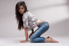 Portrait of sexy woman posing Stock Photos