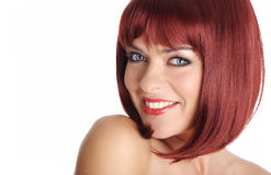 Portrait sexy woman with red hair Royalty Free Stock Photography