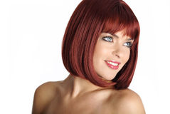 Portrait woman with red hair Stock Images