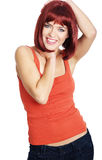 Portrait sexy woman with red hair Royalty Free Stock Photo