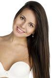 Portrait of sexy woman in white bra Stock Photo