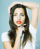 Portrait of sexy woman Stock Photos