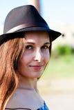 Portrait of sexy women. Portrait of stylish woman in a hat Stock Photo