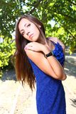 Portrait of a sexy young female Outdoor Stock Images
