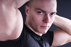 Portrait of sexy young man Stock Images