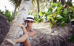 Portrait of a sexy young woma in vacation Royalty Free Stock Images