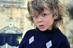 Portrait of shaggy boy Royalty Free Stock Image