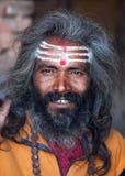 Portrait of shaiva sadhu (holy man) Stock Photo