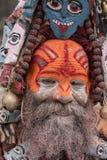 Portrait of Shaiva sadhu, holy man in Pashupatinath Temple, Kathmandu. Nepal Stock Photos