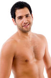 Portrait of shirtless male stock photography