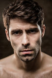 Portrait of a shirtless man Royalty Free Stock Images