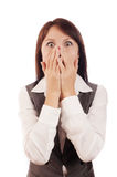 Shocked business woman Royalty Free Stock Image