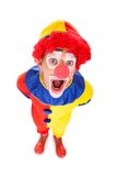 Portrait Of A Shocked Clown Royalty Free Stock Photography