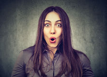 Portrait of a shocked girl royalty free stock image