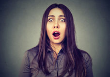 Portrait of a shocked girl Royalty Free Stock Photo