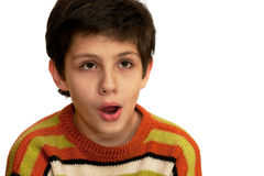 Portrait of a shocked kid Royalty Free Stock Photography