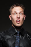 Portrait of shocked man Royalty Free Stock Images