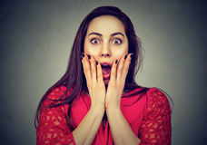 Portrait of a shocked woman Stock Image