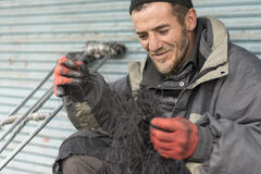 A Portrait of Shoe Repairer Man at Tehran Urban Area Stock Photography