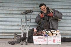 A Portrait of Shoe Repairer Man at Tehran Urban Area Stock Photos