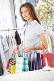 Portrait of shopping girl Royalty Free Stock Photo